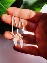 Load image into Gallery viewer, Rose Quartz Sterling Silver Earrings