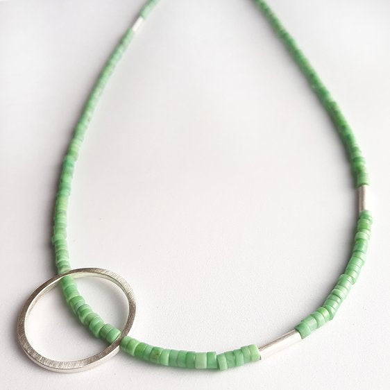 Variscite Full Circle Necklace