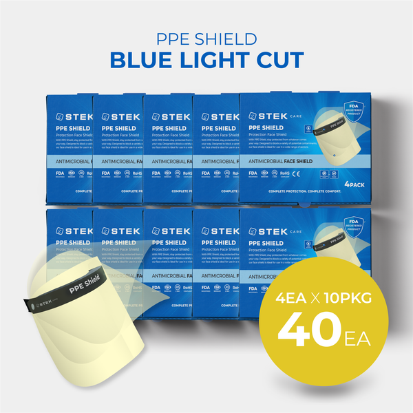 [Free Shipping] PPE Shield Face Protection Blue light cut 40EA