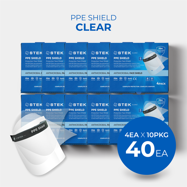 [Free Shipping]  PPE Shield Face Protection Clear 40EA