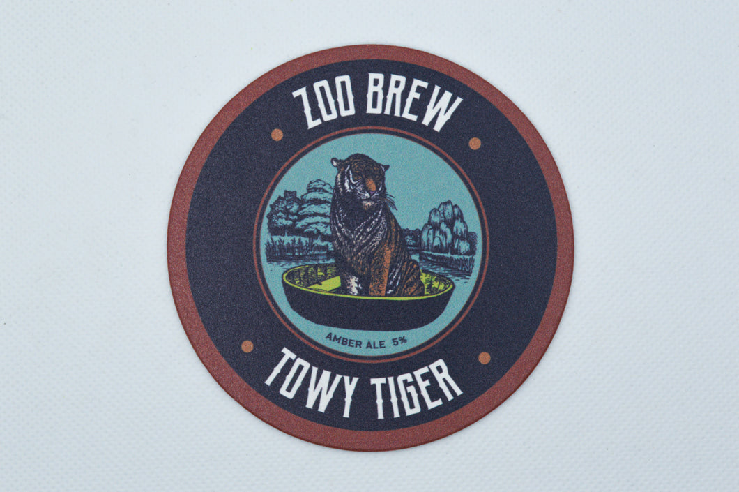 Towy Tiger Beer Mat