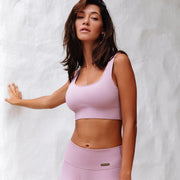 Ribbed Sports Bra Blush