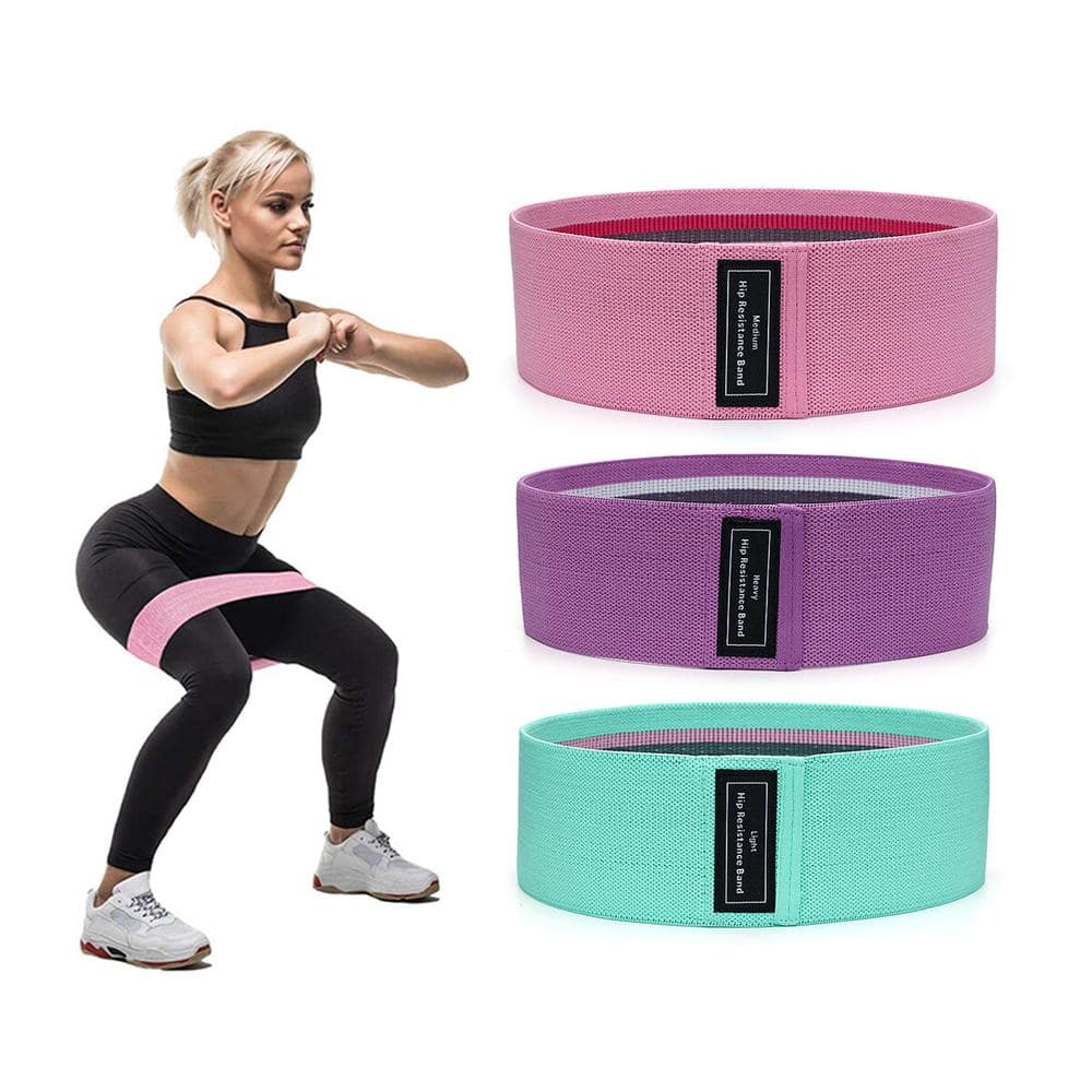 Fabric Hip Resistance Bands- set of 3
