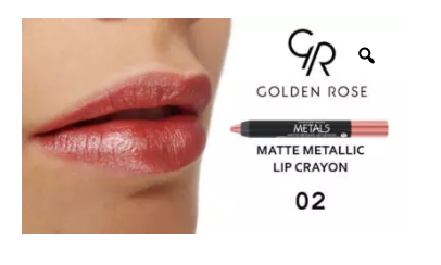 GOLDEN ROSE - METAL MATTE METALLIC LIP CRAYON