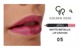 GOLDEN ROSE – METAL MATTE METALLIC LIP CRAYON – METALICZNA, MATOWA POMADKA W KREDCE