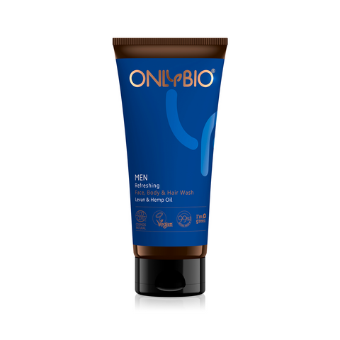 ONLY BIO MEN - REFRESHING FACE / BODY / HAIR WASH GEL FOR MEN