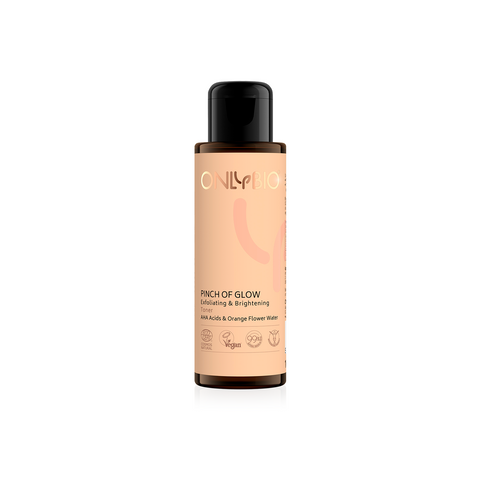 ONLY BIO - PINCH OF GLOW - EXFOLIATING AND ILLUMINATING TONER '' AHA ACIDS & ORANGE WATER ''