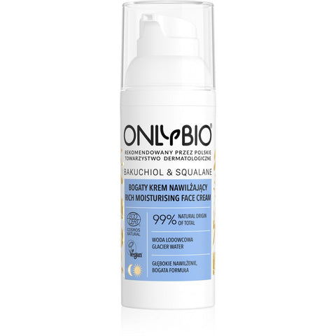 ONLY BIO: BAKUCHIOL & SQUALANE: RICH MOISTURIZING FACE CREAM  50ml
