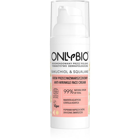 ONLY BIO: BAKUCHIOL & SQUALANE: ANTI-WRINKLE FACE CREAM 50ML
