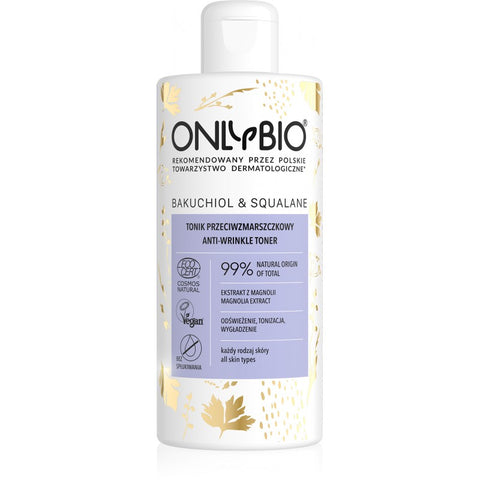 ONLY BIO: BAKUCHIOL & SQUALANE: ANTI-WRINKLE TONER