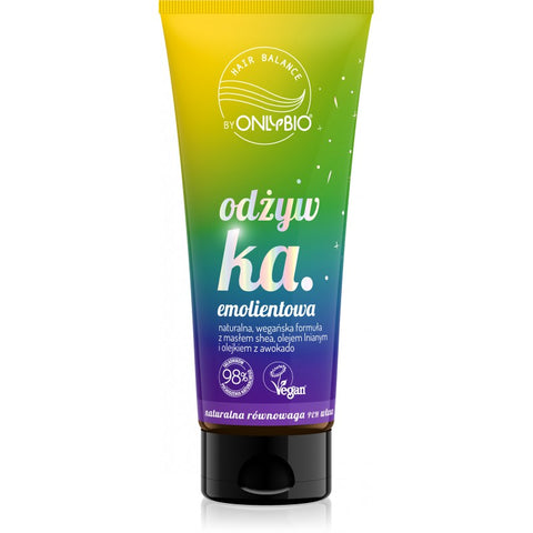 ONLY BIO: HAIR BALANCE: EMOLIENT CONDITIONER 200ML