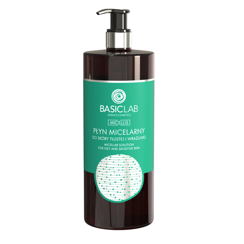 BASIC LAB - MICELLAR WATER FOR OILY, COMBINATION AND SENSITIVE SKIN, 500ML