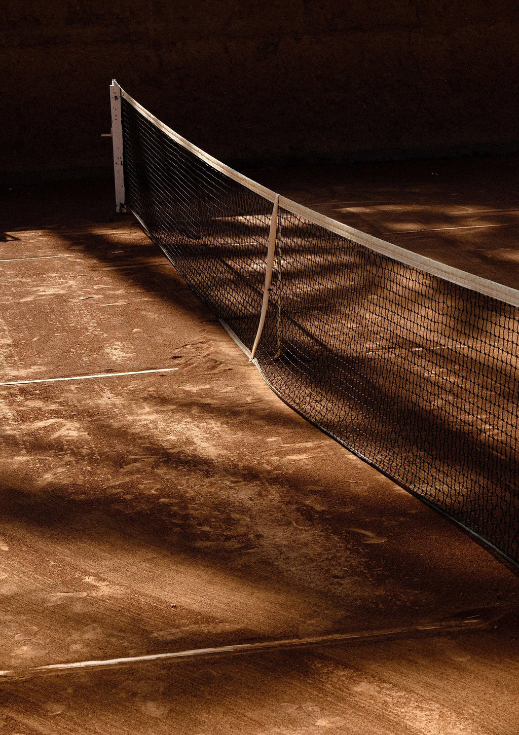 ANNA PIHAN MARRAKECH TENNIS SIDE LINES FINE ART PRINT