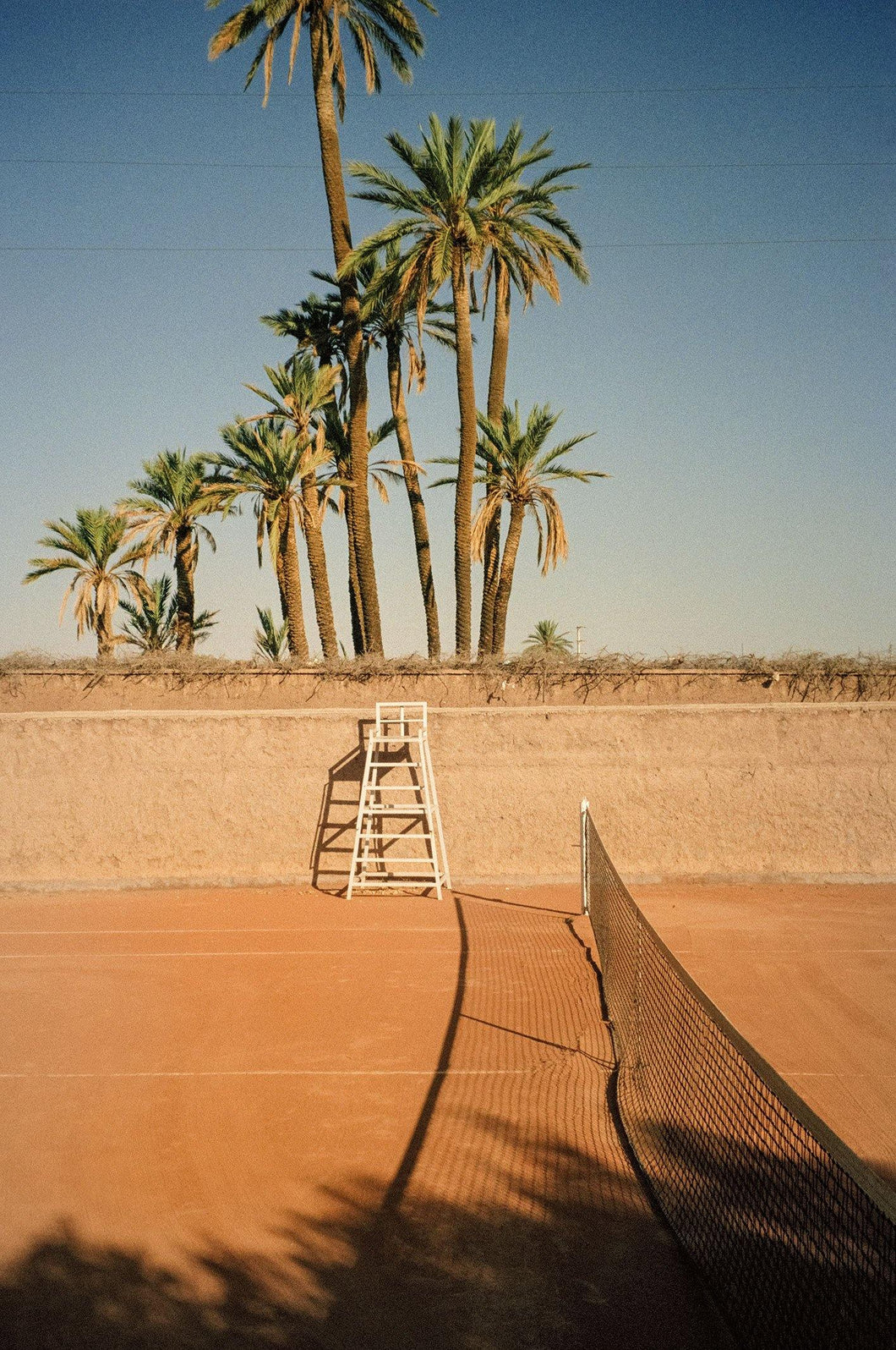 ANNA PIHAN DESERT VOLLEY MARRAKECH TENNIS FINE ART PRINT