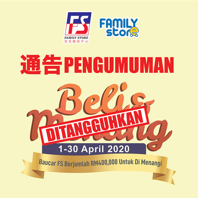 2020 Beli & Menang Lucky Draw Postponed
