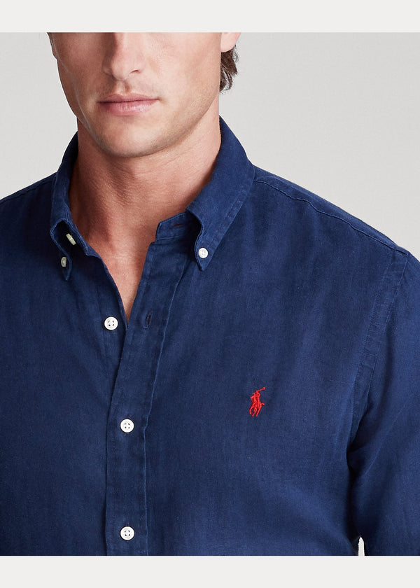 Camisa Lino slim fit Ralph Lauren en tienda elite addict