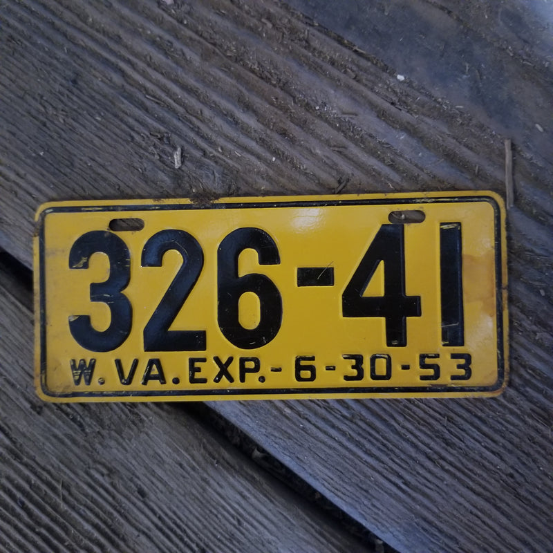 1953 West Virginia Bike License Plate