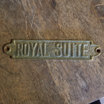 Royal Suite Plaque