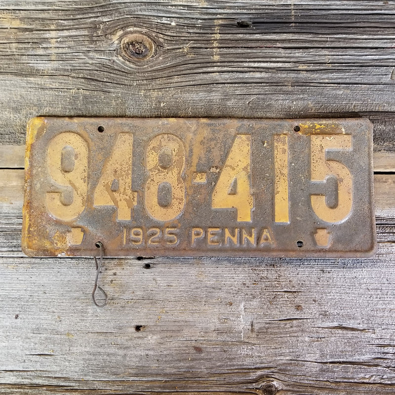1925 Pennsylvania License Plate