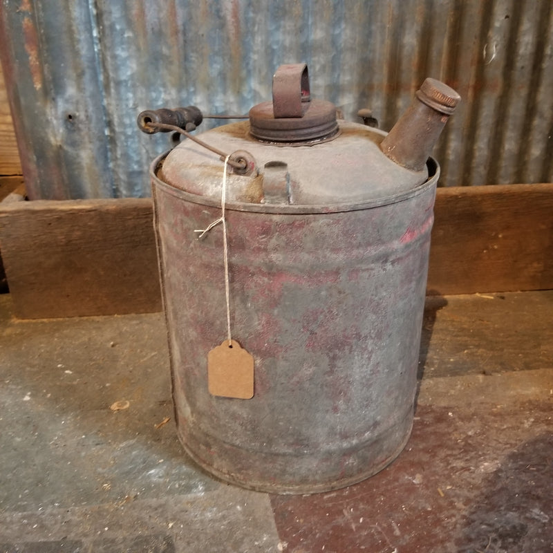 Galvanized Gas Can
