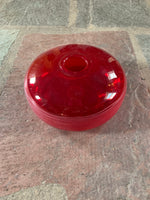 Red Hand Blown Glass Vase