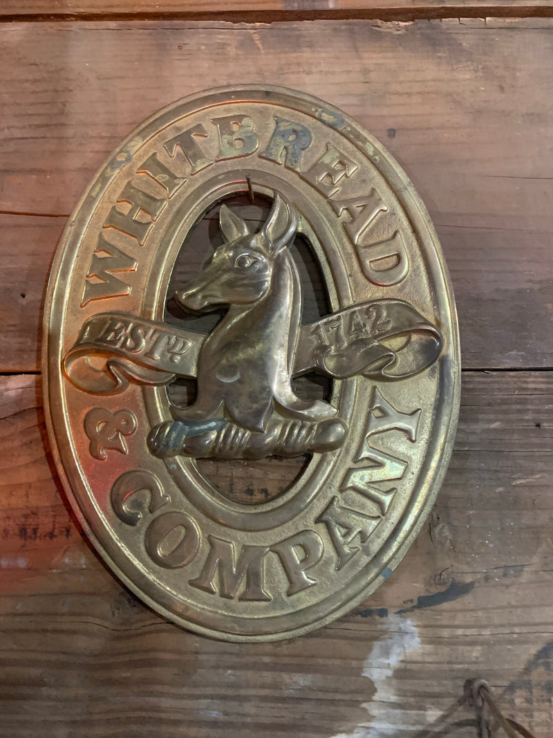 Whitbread & Company Heavy Brass Plaque
