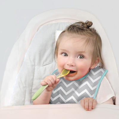 Baby in Blue Chevron Cleanbib