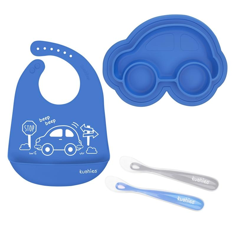 Essential Sili Feeding Set | Azure