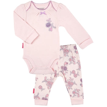 English Rose | LS Bodysuit and Play Pant Set