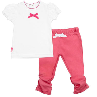I Love Spring T-Shirt & Legging Set - Fuchsia Solid