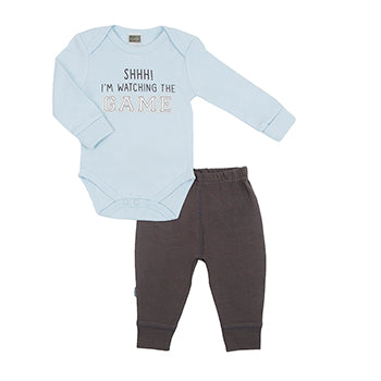 Hello World LS Bodysuit & Pant Set | Boy