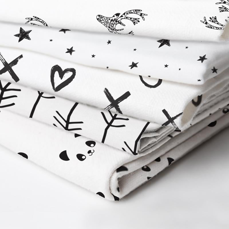 Bassinet Sheet | Pandas Black & White