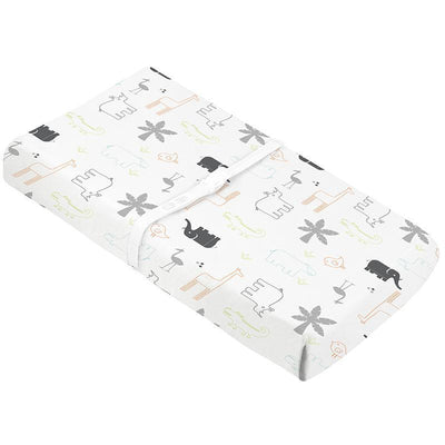 Percale Change Pad Cover with Slits for Safety Straps
