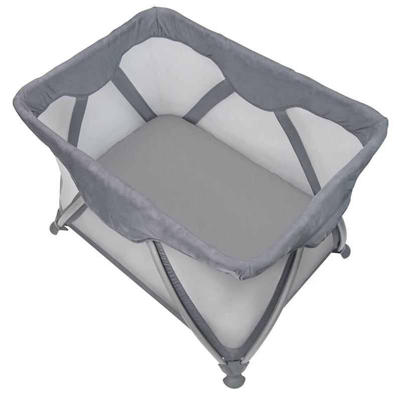 Organic Jersey Playpen Sheet Grey