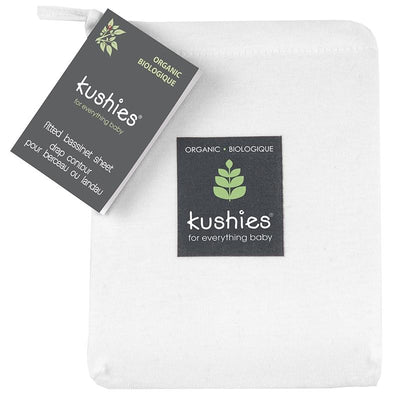 Organic Jersey Bassinet Sheet White