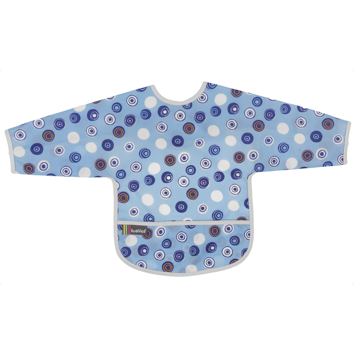 Blue Crazy Circles | Cleanbib with Sleeves