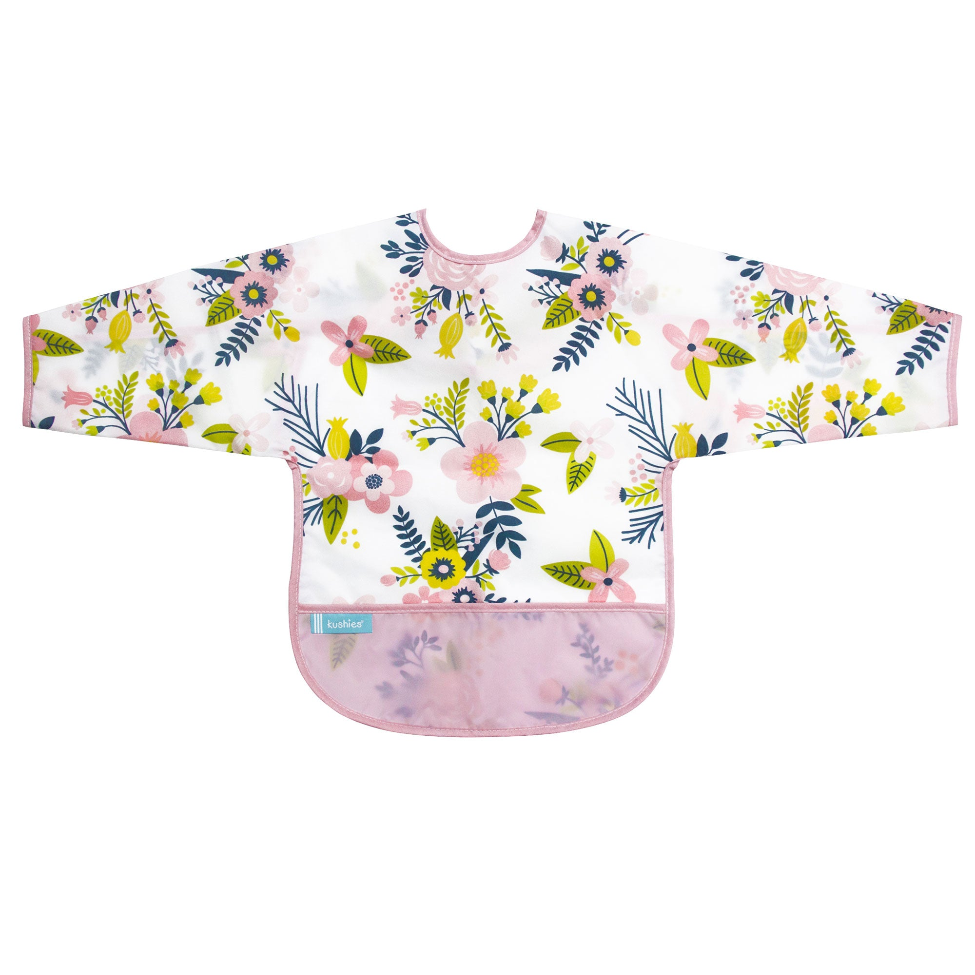Pink Garden Flowers | Cleanbib with Sleeves