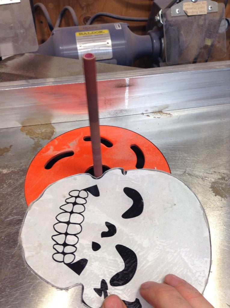 The oscillating spindle sander gets into the tight curves.