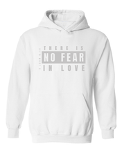 Load image into Gallery viewer, White Hoodie - No Fear