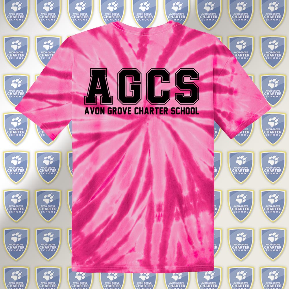 AGCS Youth Pink Tie-Dye Tee