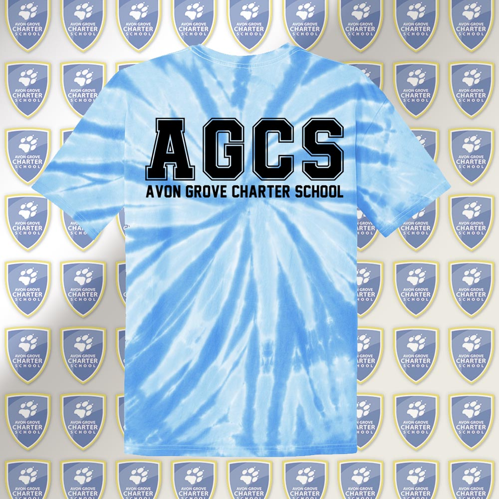 AGCS Adult Light Blue Tie-Dye Tee