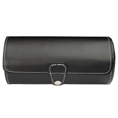 Etui à montre en cuir noire simple Limenia™
