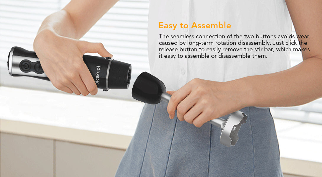 Acekool® 5-in-1 Electric Hand Blender BH1 blends tasty and healthy food for your family.