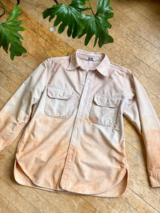 1980s Naturally Dip-dyed Woolrich Chamois Shirt