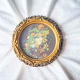 Framed Victorian Style Bouquet Print