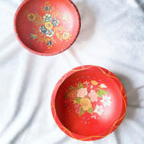 Hand-painted Wooden Bowls (Set of 2)