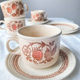 Vintage Strawberry Dreams Tea Set (8 Pieces)