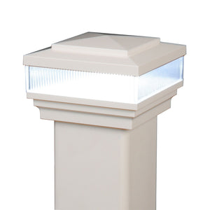 "4"" x 4"" Cape May Low Voltage Scallop Lens LED Light Post Cap (Box of 6)"