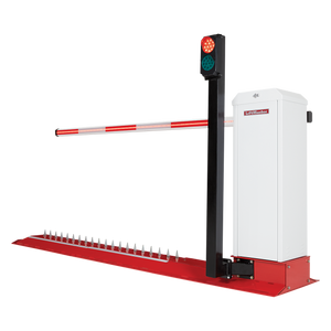 Motorized Integrated Barrier Gate Traffic Spike Solution; Corrosion Resistant (Surface Mount)