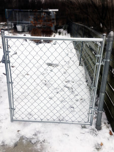 Galvanized Residential Chain Link Gate Kit- 4' Opening